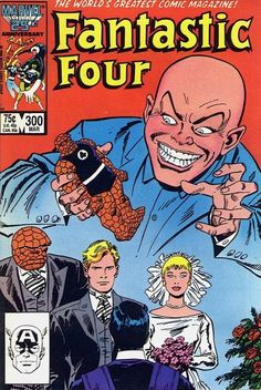 Fantastic Four Vol 1 Issue 300 - Marriage of Johnny Storm and Alicia Masters #ComicBookWeddings