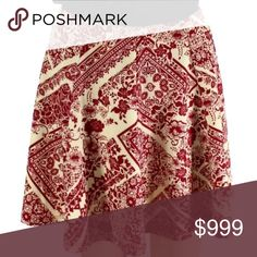 WAYF Floral Print Scuba Skirt Above Knee Flare Skirt. Floral Print. 96% Polyester/4% Spandex. Dry clean. Bundle for discounts! Thank you for shopping my closet! WAYF Skirts Circle & Skater