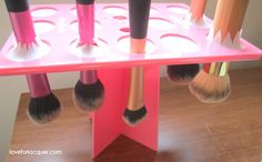 LOVE FOR LACQUER: ♥ Drying & Storing Makeup Brushes With Benjabelle Brush Tree! ♥