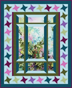 Modern Window 2 Quilt Pattern BS2-425 (advanced beginner, wall hanging, lap and throw)