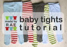 DIY Baby Tights From T-Shirts! So Cute!