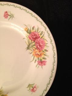 vintage english bone china lunch/tea plate