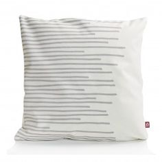 #Holland #Design Zierkissen Make my day Stripes in Weiß-Hellgrau bestellen bei Holland Design & Gifts #HDG