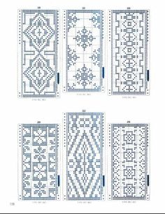 These are sweater patterns, but could use in beading. Mnemosina.ru :: Topic: Perfokartы (9/25)