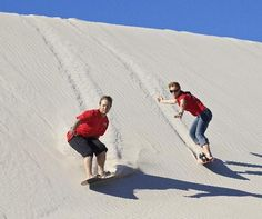 #Kangaroo Island, #Australia: Sandboarding at Little Sahara - We should do this at the Great Sandhills near Leader!
