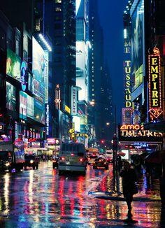 Rainy Manhattan Night by Jörg Dickmann (cropped)