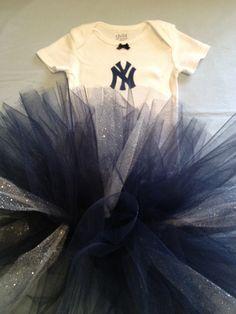 MLB New York Yankees Baby Girl Tutu Cheer Dress by hollieshobbies1, $19.45