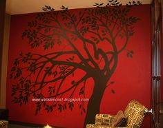 I just love the idea of possibly one wall  being an accent with paint; adding a stencil is even better