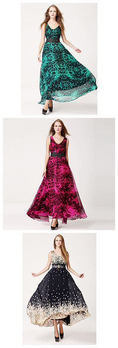 Long skirts are always perfect for summer. Love the belt and the color. Check them out!