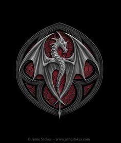 http://www.annestokes.com/horror/full/altar%20drake%20logo.jpg #dragon #tattoos #tattoo