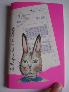 Aquarelle sur papier torchon et collage papier Petit carnet à découvrir sur http://marie-pia.alittlemarket.com