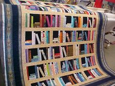 Book quilt....know a few people who would love this :)