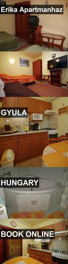 Hotel Erika Apartmanhaz in Gyula, Hungary. For more information, photos, reviews and best prices please follow the link. #Hungary #Gyula #travel #vacation #hotel