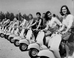 Ladies Love Vespa Fenderlights!