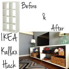 Ikea Kallax Hack- diy shelf for the living room or bedroom!