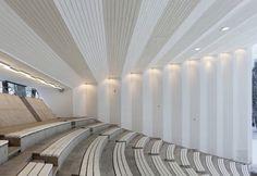 Viljandi Festival Arena / Kadarik Tüür Arhitektid Floor Design, Ceiling Design, Auditorium Design, Lecture Theatre, Three Bedroom House Plan, Hall Interior, Interior Design, Home Building Design, Theatre Design