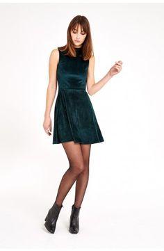 Joy Marolyn Velvet Skater Dress