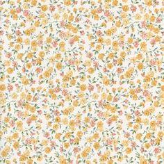 Gele bloemetjes print plakfolie / plakplastic 15-6840