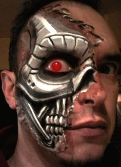 1000+ images about Face Paint Cyborg Robot on Pinterest ...