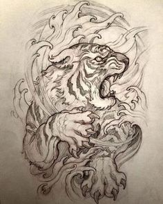 You are in the right place about lion tattoo Here we offer you the most beautiful pictures about the tattoo … Japanese Tiger Tattoo, Japanese Dragon Tattoos, Japanese Tattoo Designs, Bild Tattoos, Irezumi Tattoos, Thigh Tattoos, Tattoo Arm, Art Tattoos, Tattoo Design Drawings