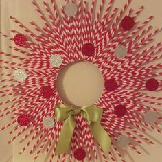 Super cute paper straw wreath