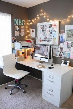 Cute little desk area