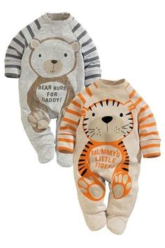 Buy Mum Dad Sleepsuits Two Pack (0-18mths) from the Next UK online shop