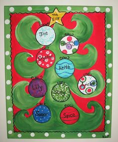family christmas tree by CustomCanvasbyKim on Etsy, $35.00