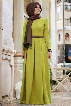 Eda Ertunç Oksit Sarısı Açelya Elbise