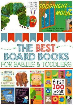 If you're building a children's library, check out this list of the best board books for babies and toddlers. They're perfect for baby shower gifts! Toddler Books, Childrens Books, Toddler Stuff, Toddler Play, Kid Stuff, Baby Play, Baby Kids, Baby Gym, Board Books For Babies