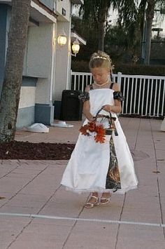 Cute flower girl dress except make the camo pattern the same as mine