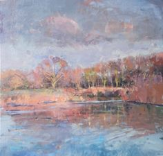 October afternoon, Dorset Stour by Richard Pikesley