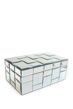 Tiled Mirror Silver Jewelry Box