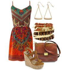 Summer outfits. Summer dresses. Boho fashion. Ethnic prints. Fashion for women over 40. Outfit of the day. OOTD.