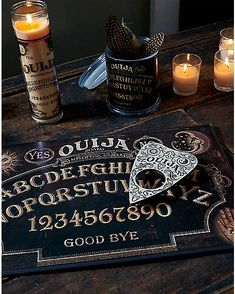Exclusive to Spirit, this deluxe game is made with heavy duty board and features special, eye-catching graphics, and. Ouija Stories, Ouija Table, Creepy Home Decor, Witch Room, Halloween Photos, Halloween 2020, Spencers Gifts, Witch Board, Witch Aesthetic