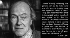 Read Roald Dahl's powerful letter to parents about vaccination from 1988 - ScienceAlert