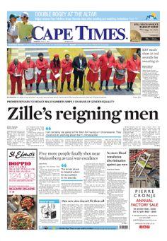 News making headlines: Zille's reigning men
