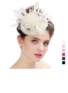 Organza Feather Fascinators Elegant Ladies' Hats Ladies Hats, Hats For Women, Event Dresses, Wedding Party Dresses, Fascinators, Elegant Woman, Special Occasion Dresses, I Dress, Feather