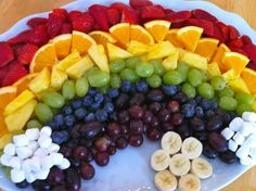 Fruit rainbow! I think this would make a terrific dish for a kids party :)