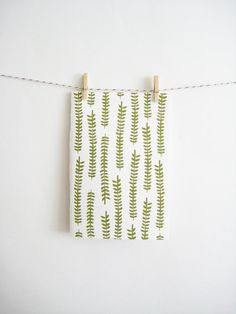 Patterned Notebook with Ferns by MintAfternoon on Etsy, $5.00