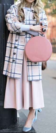 #fall #trending #outfits | Plaid + Pastels