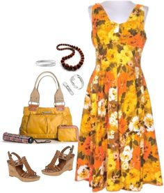 Vintage 50's Hawaiian Dress, created by forgiven78 on Polyvore