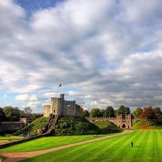 Great day for it Motte And Bailey Castle, Castles In Wales, Gothic Castle, Marquess, 11th Century, Cardiff, Romans, Old School, Dates