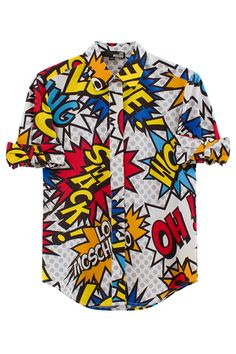 MOSCHINO -Roy Lichtenstein comic book pop art inspired clothing