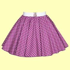 Childs Purple with White Polkadot Full Circle Skirt