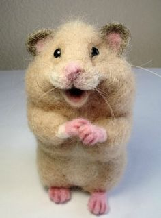 Handmade Needle felted Hamster