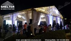 luxury wedding marquee - clear top tent for ceremony