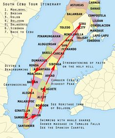 3 day Backpacking Souh Cebu Itinerary - ARCHIE OFF DUTY
