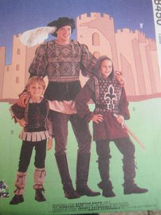 SeeSallySew.com - Doublet Leggings Shirt Hood Hat Tabbard Medieval Stage Play Costume McCall's 8450 Pattern Sz. 7, 8 , $14.00 (http://stores.seesallysew.com/doublet-leggings-shirt-hood-hat-tabbard-medieval-stage-play-costume-mccalls-8450-pattern-sz-7-8/)