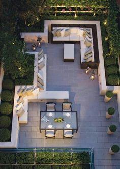 Archive.fr Outdoor Areas, Outdoor Rooms, Outdoor Patio Flooring Ideas, Outdoor Living Spaces, Outdoor Lounge, Indoor Outdoor, Outdoor Dining, Outdoor Seating, Outdoor Cinema